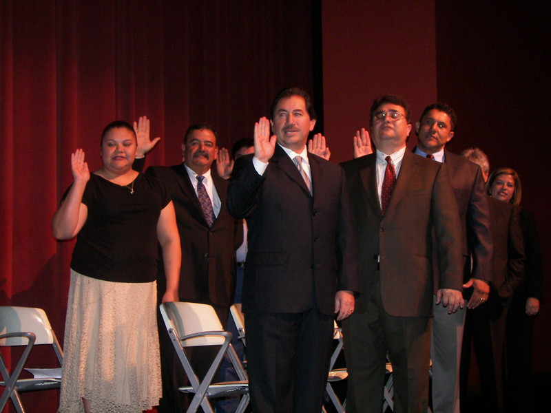 The HCADFW Board takes the oath of office