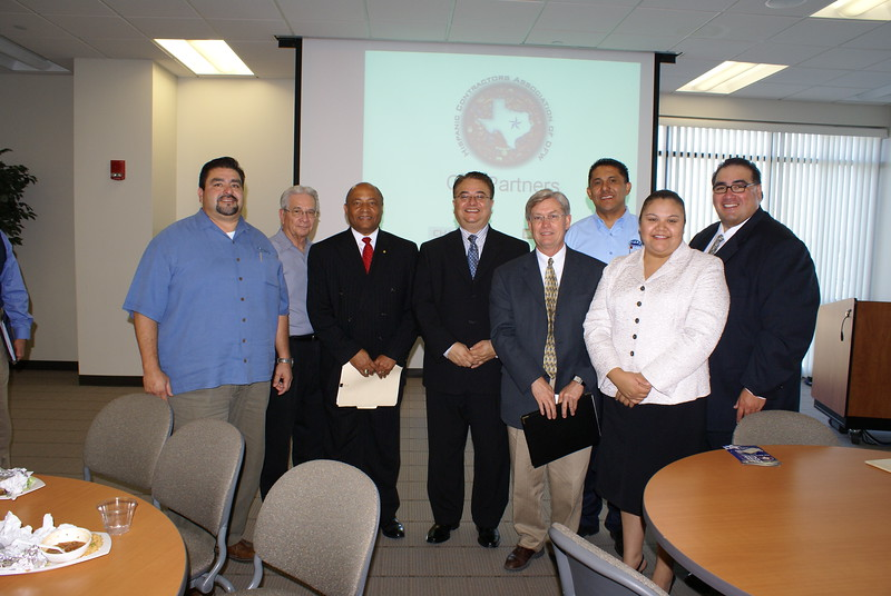The HCADFW Board with Clyde Porter and Steve Park