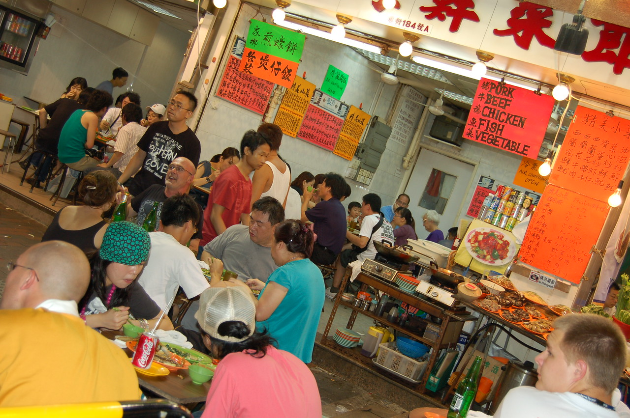 Food stalls in Kowloon