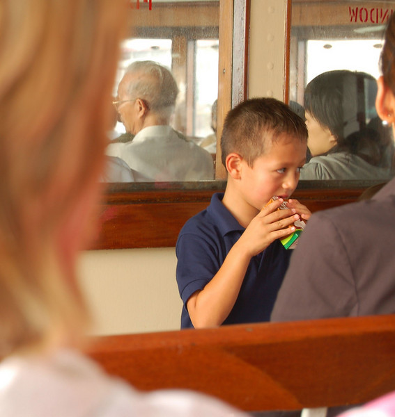 Kid on the Star Ferry
