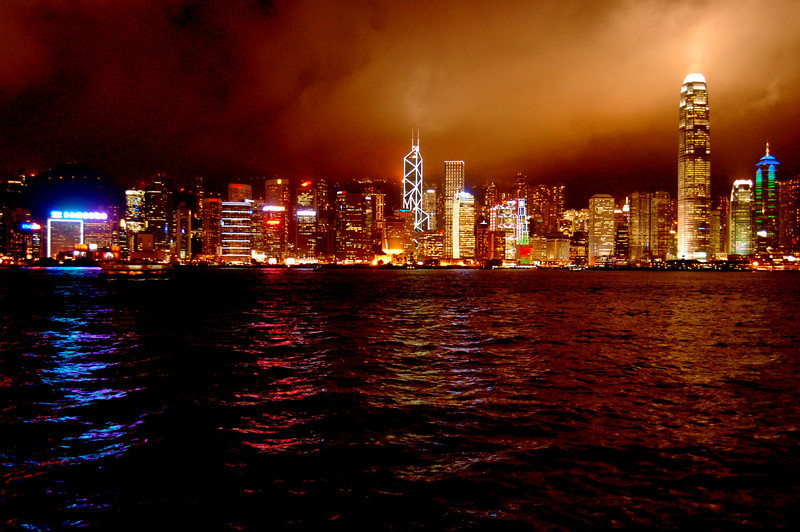 Victoria Harbour by night 2