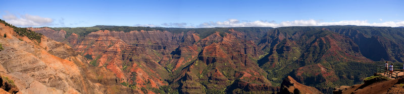 """This is a stitched panorama from one of the lookouts. Click on """"O"""" for a larger size, and scroll across (you'll se a waterfall on the other side of the canyon.)"""