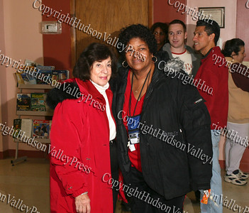 City of Newburgh Councilwoman Regina Angelo and Ms Lola Melvin at the Unity Tree Lighting ceremony at the Newburgh Recreation Center