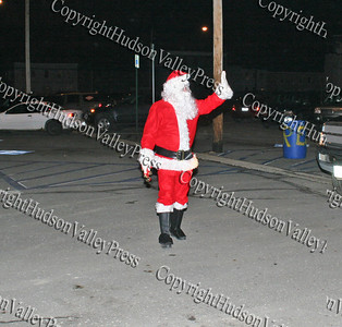 Santa Claus arrives at the Newburgh Recreation Center
