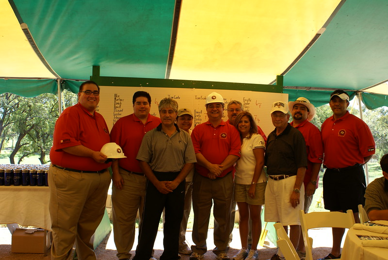 """The HCADFW Board with the """"Official HCADFW Hardhat"""""""