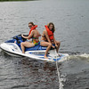 I FEEL SORRY ALREADY FOR WHOEVER THEY ARE GOING TO PULL BEHIND THIS JET-SKI..........AMY & KATERINA ON HULLS LAKE
