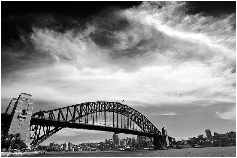 Sydney Harbour Bridge, Saturday January 21st 2006. <br /> <br /> EXIF DATA <br /> Canon 1D Mk II. EF 17-35mm f/2.8L@17mm 1/200s f/16 ISO 200.