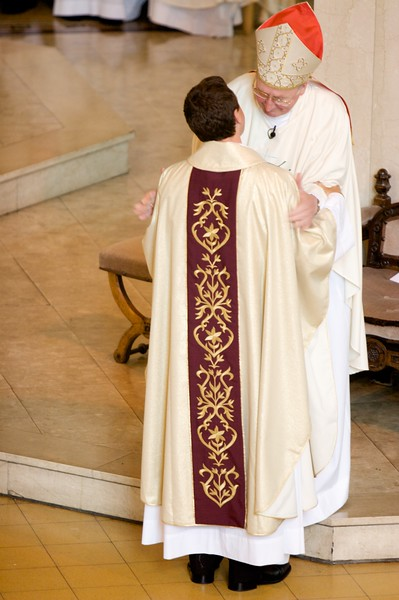 The Kiss of Peace • At the end of the Ordination Rite, the new priest exchanges a Kiss of Peace with the Bishop and then in turn with each of the priests present.