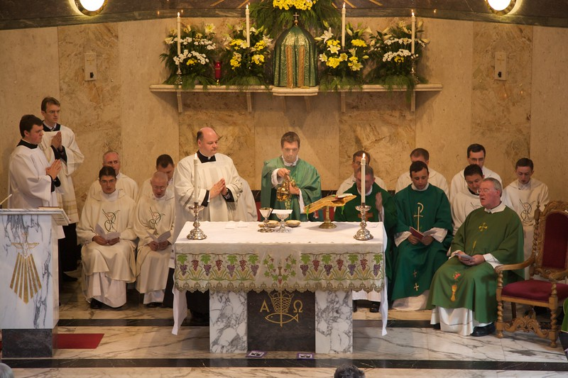 Incensing • John incenses the gifts at the first Mass which John said in Rusholme the day after his Ordination.