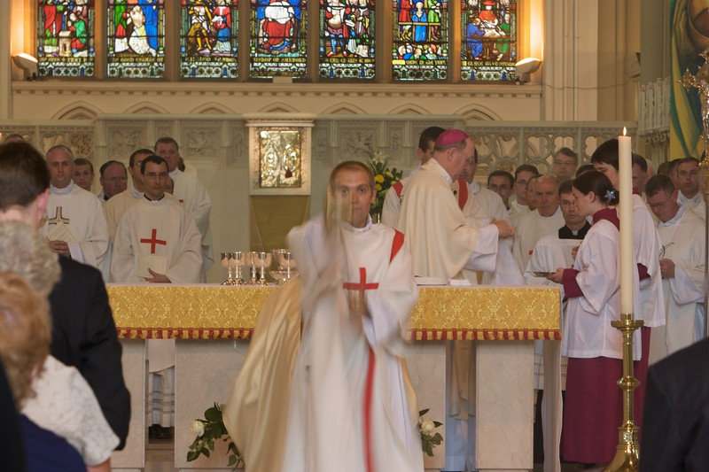Incensing • After the gifts, the altar, the Bishop, and the other concelebrants have been incensed, the deacon incenses the assembled people.