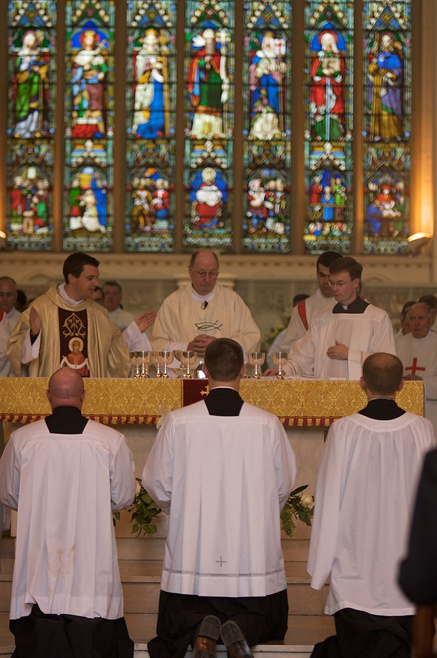The Eucharistic Prayer • John assists in praying the Eucharistic Prayer for the first time.
