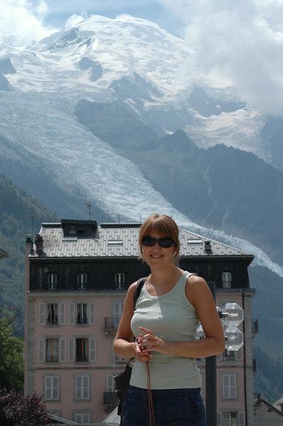 Marte-Eline at Chamonix, Mont Blanc, France