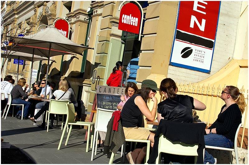 Balmain, Saturday July 8th 2006. <br /> <br /> Darling Street Café. <br />  <br /> <br /> EXIF DATA <br /> Canon 1D Mk II. EF 17-35 f/2.8L@35mm 1/160 f/22 ISO 250.