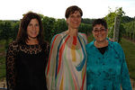 "Event Co-Chairs/Board Members: Cynthia Sulzberger & Adeline Neubert with Adrienne Kitaeff, Executive Director at <a href=""http://www.cmee.org/index_fl.htm"">Children's Museum of the East End</a>, 7th Annual gala ""CMEE Under the Stars Benefit & Auction"" at Channing Daughters Winery in Bridgehampton, New York"