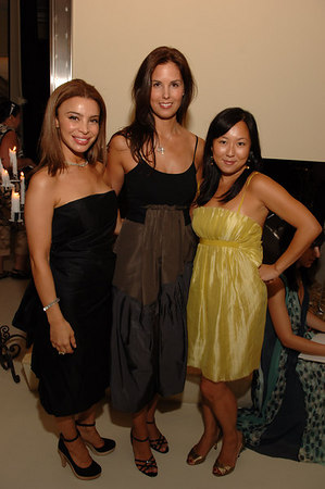 Tia Cibani, Melissa Skoog, Celia Chen at Ports 1961 showroom for the Free Arts NYC: Young Benefactor Summer Benefit
