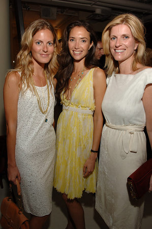 Ferebee Bishop, Olivia Chantecaille, Lucy Sykes Rellie at Ports 1961 showroom for the  Free Arts NYC: Young Benefactor Summer Benefit