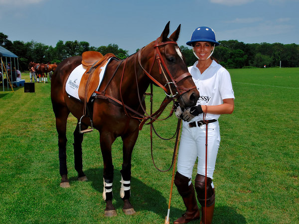Hennessy Team Captain, Yvonne Morabito at the Southampton Hunt & Polo Club for Hennessy Polo Cup