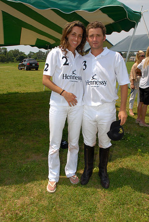 Hennessy Team Captain: Yvonne Morabito and Andres Weisz at the Hennessy Polo Cup at Southampton Hunt & Polo Club