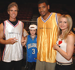 Jay Sugarman,Arno Sugarman, Allan Houston & Kelly Sugarman at iStar Financial 4th Annual Charity Shootout at Madison Square Garden Benefitting Robin Hood Foundation and Human Rights First