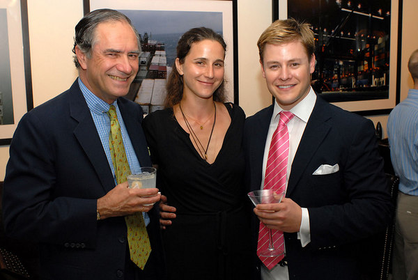 "Christoper (KIP) Forbes, Shuli Hallak & Kipton Cronkite at a KiptonArt artist reception for photographer Shuli Hallak's ""CARGO"" at SOHO House"