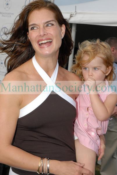 Brooke Shields and daughter Rowan at Bridgehampton Polo Opening Day