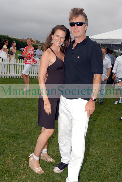 Sessa von Richthofen & Richard Johnson at Bridgehampton Polo Opening day.