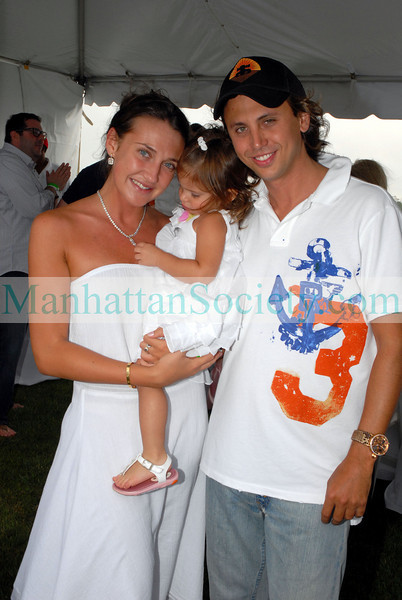 Anna Anisimova, Bryce Weisser and Jonathan Cheban at Bridgehampton Polo Opening day.