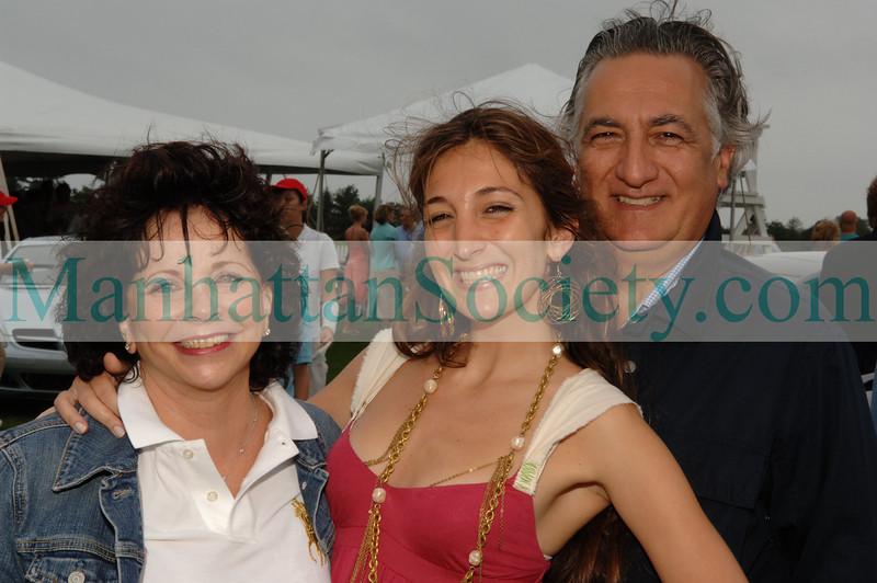 Designer Nicole Romano with mom and dad Romano