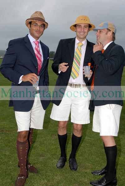 Camel Fattouh, Sebastian Stubbe & Emmet Austin at Bridgehampton Polo