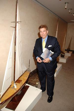 Richard Torrenzano peruses the boats at Christies