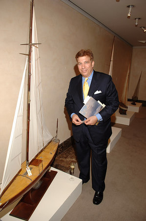 Richard Torrenzano peruses the boats at Christies