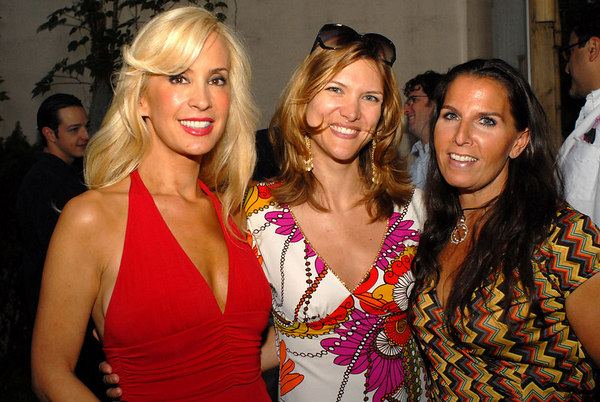 """Tracy Stern, Cathy Riva & Vicki Miller at <a href=""""http://www.lolivier.com/default.aspx"""">L'OLIVIER, NYC</a> TRACY STERN """"Dinner Takes All"""" Garden Party with Swank Productions and SalonTEA"""