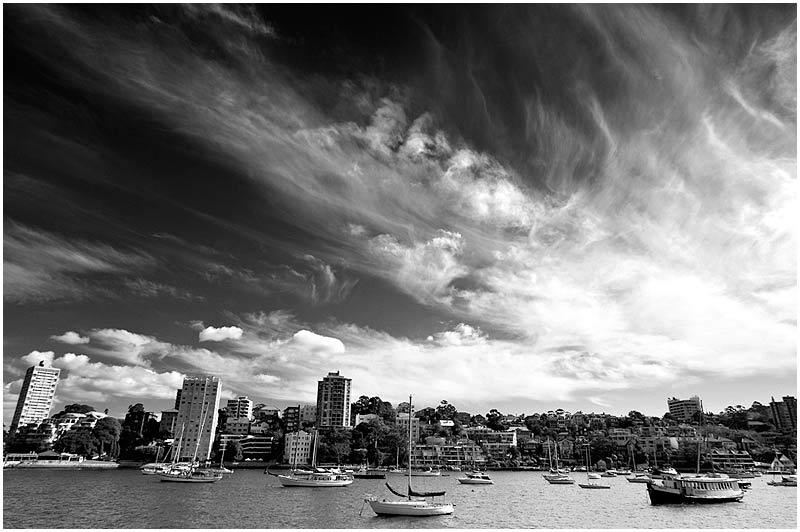 Sydney Harbour, Sunday June 4th 2006. <br /> <br /> Lavender Bay. <br /> <br /> <br /> EXIF DATA <br /> Canon 1D Mk II. EF 17-35 f/2.8L@17mm 1/200s f/9 ISO 200.