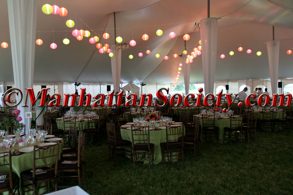 """Inside the tent on the grounds of <a href=""""http://www.wolffer.com/store/"""">The Wolffer Estate Vineyard</a>"""