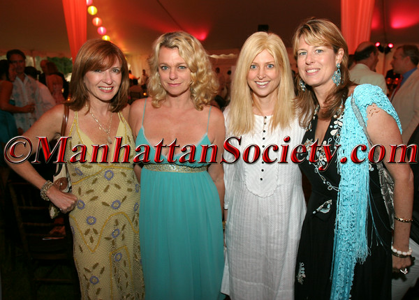 "Nicole Miller, Debbie Bancroft, Cynthia Lufkin & Ann Colley at GROUP FOR THE SOUTH FORK ""Towns & Villages Benefit Dinner Dance at The Wolffer Estate Vineyard"