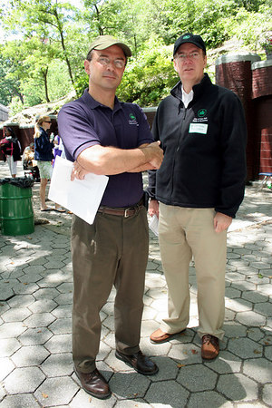 Adrian Benepe & William Castro at  New York Junior League Playground Improvement Project--Jackie Robinson Park Ribbon Cutting Ceremony