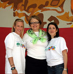 Event Co-Chairs: Kristina Kloberdanz and Amy McCready with NYJL President, Cynthia Cathcart