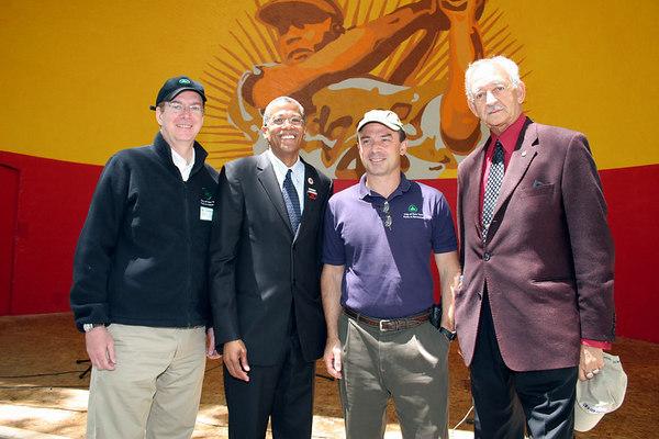 "William Castro, Robert Jackson, Adrian Benepe &  Assemblyman Hermann ""Denny"" Farrell"