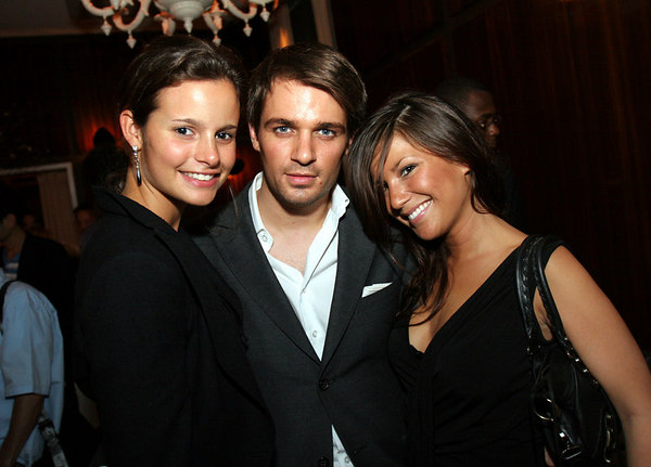 "Charlotte, Anthony Coppers, Emilie Vincent at Unveiling of ""40 Days"" art installation by Gonzalo Papantonakis at Thom Bar"