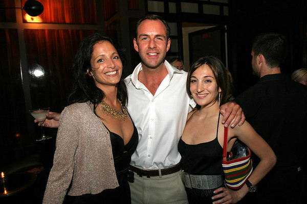 "Emma Snowdon Jones, Mark Langrish & <a href=""http://www.nicoleromano.com/"">Designer, Nicole Romano</a> at Unveiling of ""40 Days"" art installation by Gonzalo Papantonakis at Thom Bar"