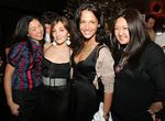 "Diana Hsu, <a href=""http://www.nicoleromano.com/"">Designer, Nicole Romano</a>, Emma Snowdon Jones & Susan Shin at Unveiling of ""40 Days"" art installation by Gonzalo Papantonakis at Thom Bar"
