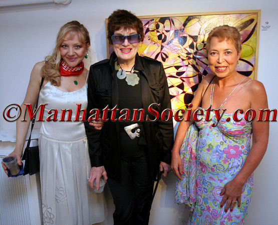 gallery curator Marijana Bego, Jackie Rogers and Wanda Murphy