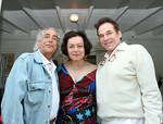 "Gideon Lewin, Designer, <a href=""http://www.joannamastroianni.com/"">Joanna Mastroianni</a> and beau with R Couri Hay"