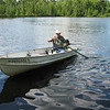 "I AINT NEVER SEEN ANYONE ""PADDLE"" A CANOE WITH ONE OF THE ""OARS""??? CHUCK HANUSKA.."