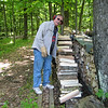 TOM GOMACH STACKING FIREWOOD FOR NEXT MAPLE SYRUP SEASON....BETTER NOW THAN THEN...