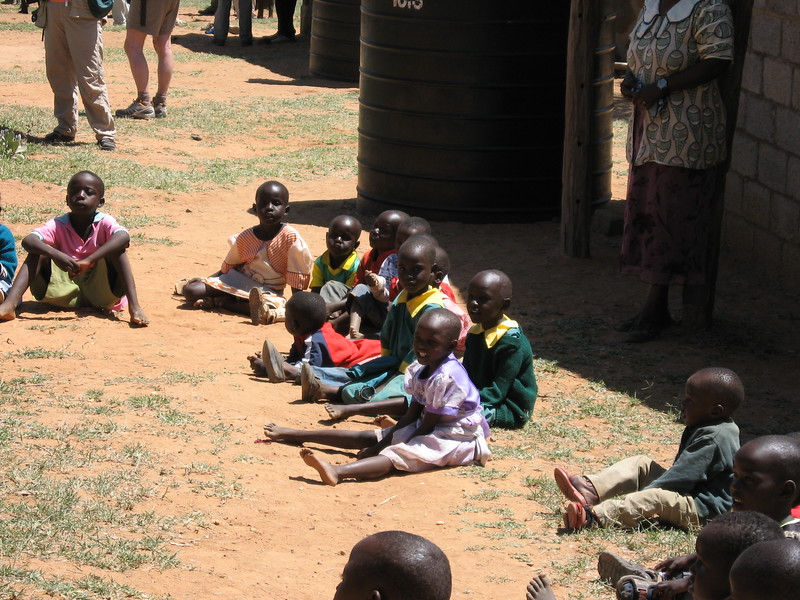 Outside Mpala school - Kimberly Collins