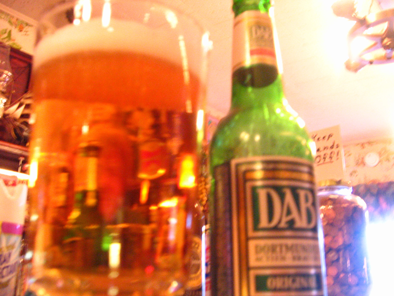 Next stop, Eppler's roadside tavern, home of DAB beer.