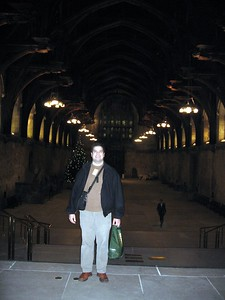 Craig, in front of Westminster Hall, in the Palace of Westminster (Houses of Parliament)