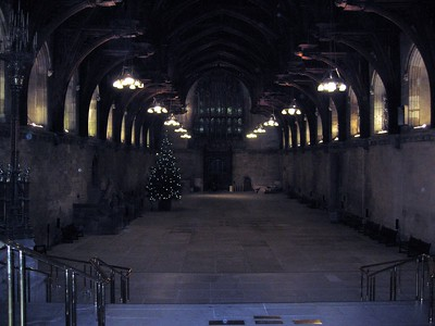 Westminster Hall, in the Palace of Westminster (Houses of Parliament)