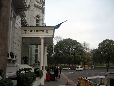 Thistle Kensington Palace Hotel, across from Hyde Park